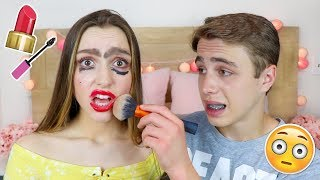 My Brother Does my Makeup!! Sydney Serena