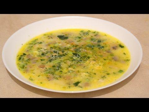 Как готовить суп из грибов с плавленным сыром