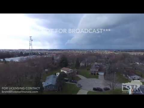 03-07-2017 Sun Prairie, Wisconsin Amazing Shelf Cloud FROM DRONE