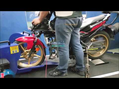 Yamaha Y15Zr aRacer RC M4 ECU Dyno Tuning (Backfiring) - Motodynamics Technology Malaysia