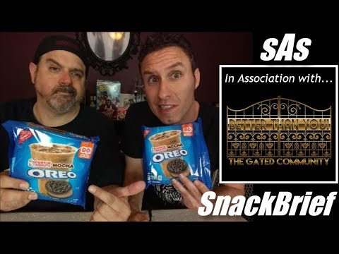 sAs SnackBrief: Oreo Dunkin Donuts Mocha Cookie Review w/Ed from 1 Gated Community