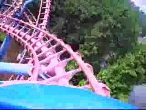 "My Onride from Xpress in Walibi World (NL) in summer 2006. Length: 3267' 9"" Height: 84' 8"" Inversions: 3 Speed: 55.9 mph Duration: 1:40 G-Force: 5 Max Accele..."