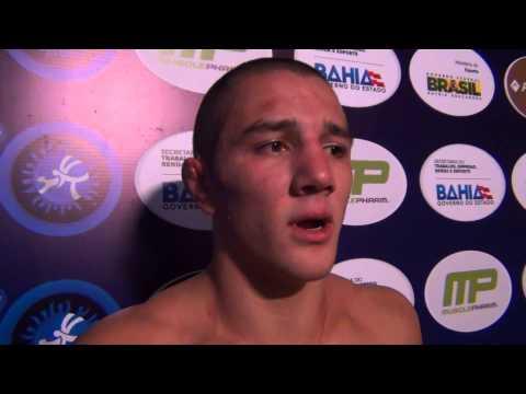 Aaron Pico after winning 66 kg Bronze at UWW Junior Worlds
