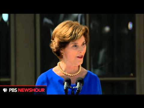 Watch Laura Bush's Remarks at the Dedication of the George W. Bush Presidential Library