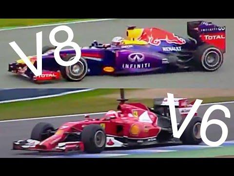 F1 LOUD V8 vs V6 Turbo! Old vs New Engine Sound Comparison
