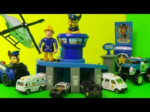 VANCOUVER POLICE SWAT TOP 5 VEHICLES BY PAW PATROL FIREMAN SAM, Inc, Riot Van, Helicopter, Squad Car