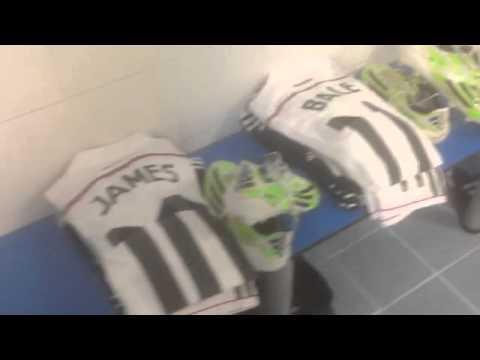 Todo listo en el vestuario del Real Madrid en Eibar / All is set & ready for today's match!