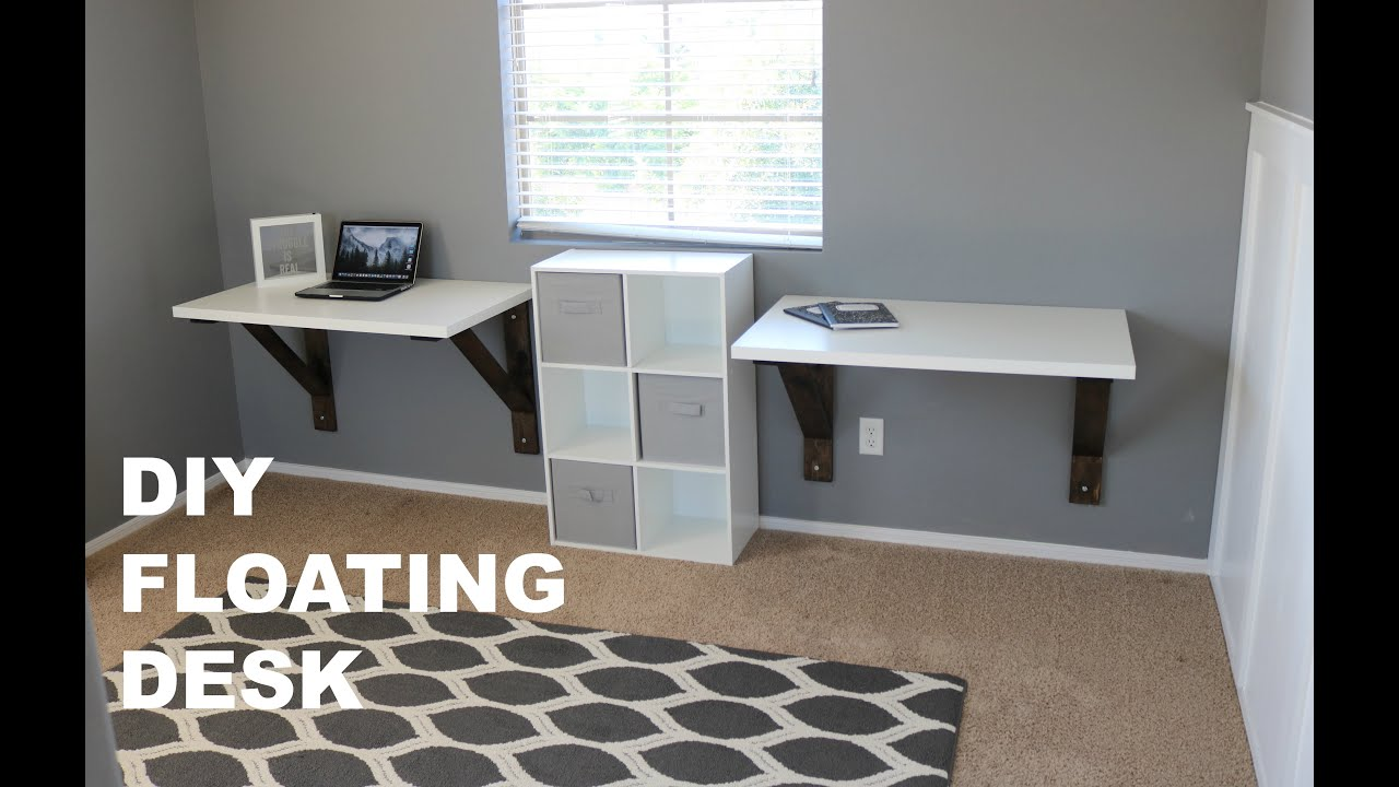 DIY Floating Desk Build (Ikea Hack) - YouTube