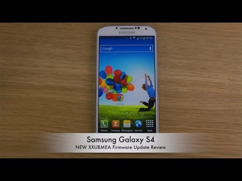 Samsung Galaxy S4 - NEW XXUBMEA Firmware Update Review