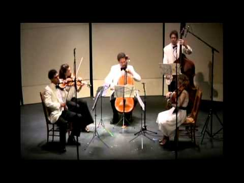 Dvorak String Quintet in G Major, Op. 77 - 1st mvmt.  Central Vermont Chamber Music Festival 2010.