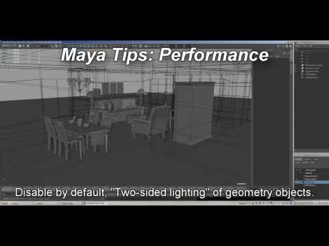 Maya Performance - Disable &quot;Two-sided lighting&quot; by default, performance boost!
