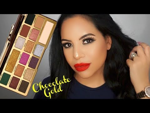 NEW Too Faced Chocolate Gold Palette Makeup Tutorial
