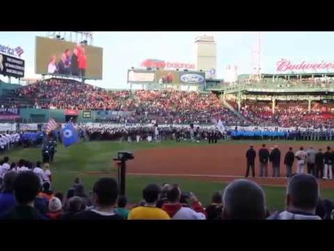 Tribute to Boston Marathon Fenway April 2014