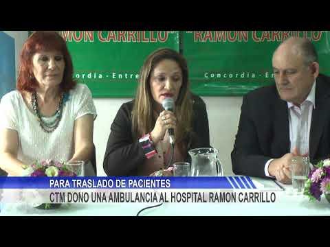 El Hospital Carrillo ya cuenta con la ambulancia donada por Salto Grande
