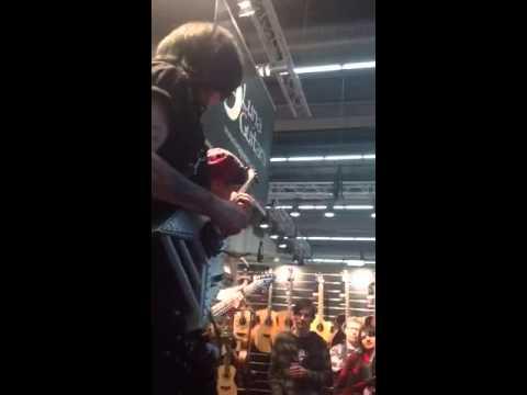 Michael Batio playing his 2014 Rocket Guitar