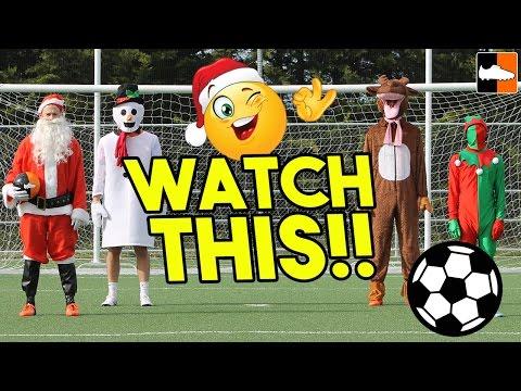 Funny Christmas Football ! Hilarious Xmas Football Clips