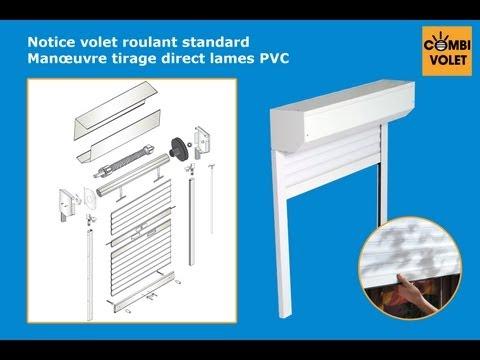 Fen tre PVC avec volet roulant manuel