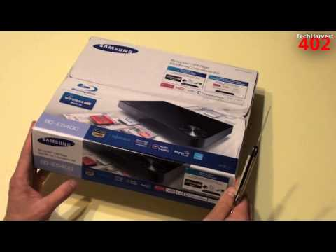 Samsung Smart WiFi Blu-Ray Player Unboxing (BD-E5400)