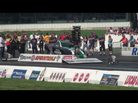 Alcohol Funny Car CRASH Englishtown Supernationals OVER 200 mph impact Video