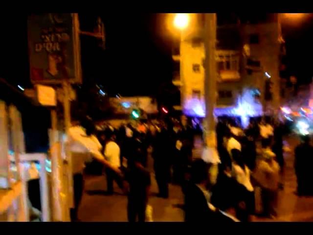ירושלים: המונים בהפגנה נגד מעצר תלמיד ישיבה עריק בצומת בר אילן