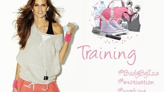 Training with Izabel Goulart