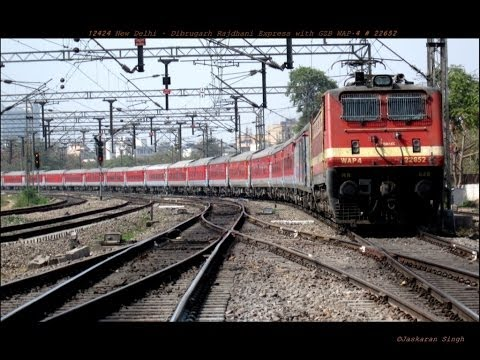 Some Amazing Honking Shows By Wap-4 Locomotive Hauling High Speed Trains - Indian Railways video