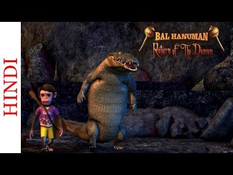 Bal Hanuman - Return Of The Demon - Monkey And The Crocodile - Animated Action Scene video