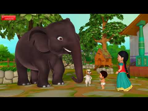 யானை யானை யானை | Tamil Rhymes for Children | Infobells thumbnail