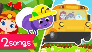 Kids song | The Wheels on the bus | The Ants Go Marching | LittleTooni song | Eng. Subtitles