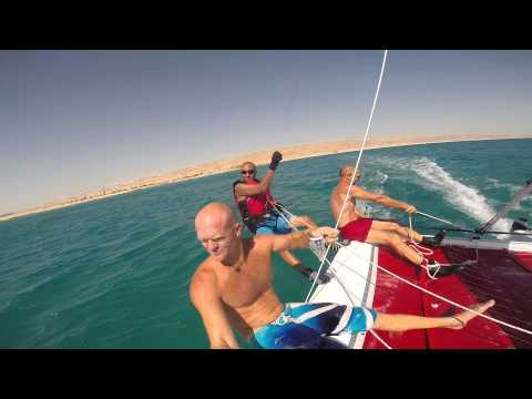 catamaran sailing at Sinai / Egypt, Axel, Nabil and Surf Greg 8-2014