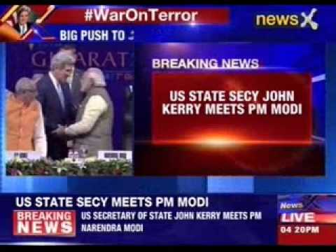 US State Secretary John Kerry meets PM Modi
