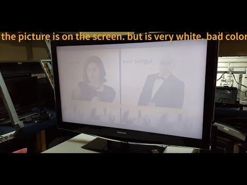 SAMSUNG LE46B679T2D. tv lcd. repair. photo. very bright with white on the screen