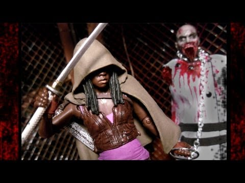 The Walking Dead - MICHONNE Action Figure Review - TV Version