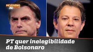 PT quer a inelegibilidade de Bolsonaro por propaganda ilegal