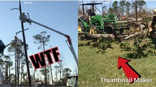 Hurricane Michael Aftermath/ cleanup (part 2)