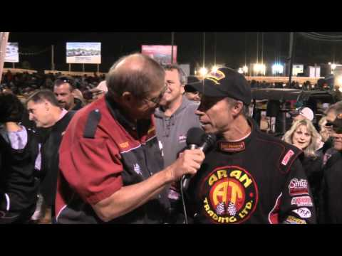 Lincoln Speedway 410 Sprint Car Victory Lane 9-27-14