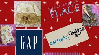 Huge Baby Clothing Haul-2018 || Gap Carter's The Children's place