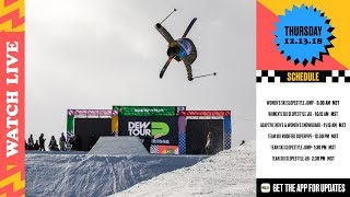 Day 1 Dew Tour Womens Ski Finals, Snowboard Adaptive Finals Ski Team Challenge Finals LIVE