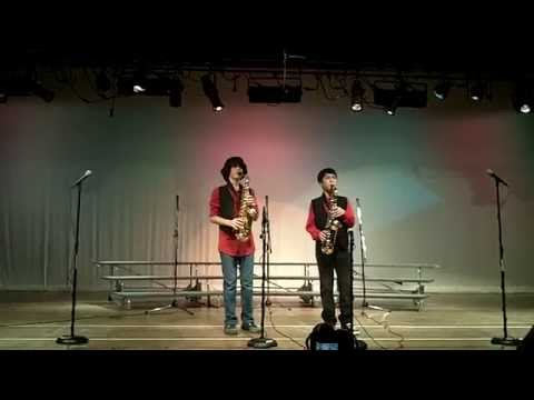 Talk Dirty Alto Sax duet: Christian Boekhout and Zach Brown