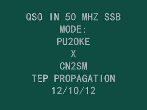 PU2OKE X CN2SM IN 50 MHZ