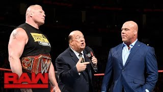 Lesnar & Heyman to leave WWE if The Beast loses Universal Title at SummerSlam: Raw, July 31, 2017