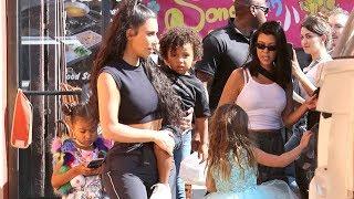 Kim Carries Growing Boy Saint After Kids