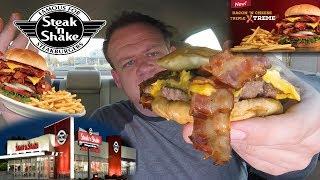 Steak 'n Shake ☆BACON 'N CHEESE TRIPLE XTREME STEAKBURGER☆ Food Review!!!