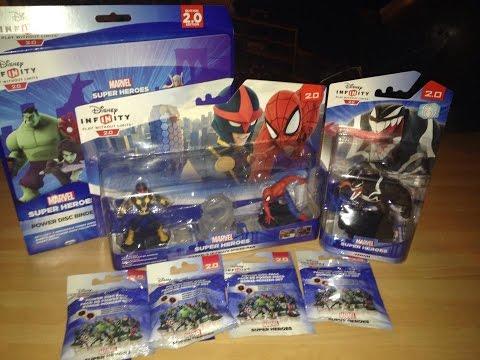 Disney Infinity Spiderman Playset Unboxing Plus Power Discs/Album And Nick Fury