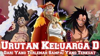 Inilah Urutan Keluarga D dari yang Terlemah Sampai yang Terkuat (Teori One Piece)
