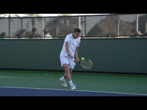 Richard Gasquet Forehand and Backhand In Super Slow Motion - Indian Wells 2013 - BNP Paribas Open