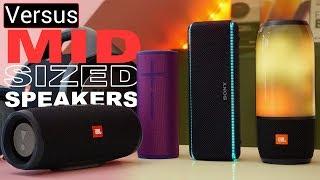 Mid Sized Speakers Compared - JBL Charge 4 Vs JBL Pulse 3 Vs Sony XB31 Vs UE Boom 3
