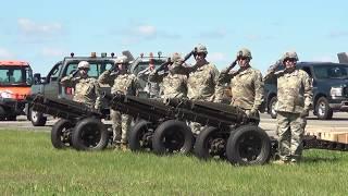 21 Gun Salute w/Mortars, Taps, & F-16 Flyover [McEntire JNGB]