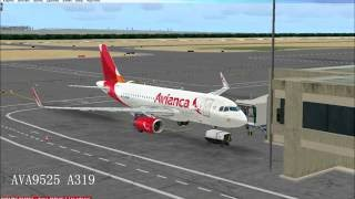 Avianca  Barranquilla-Bogota AVA9525 A319 Full control [IVAO-FSX]