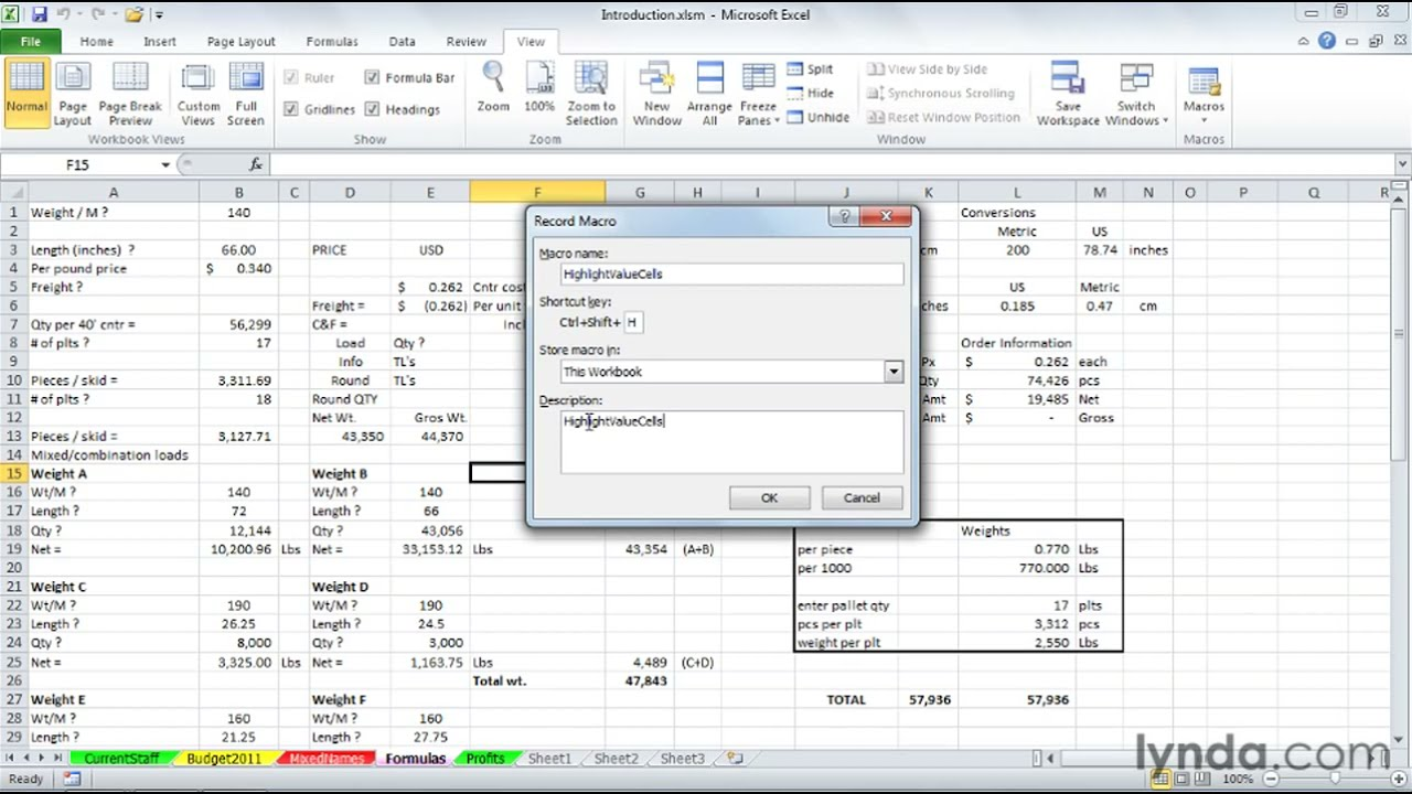 Learn about excel macros samples
